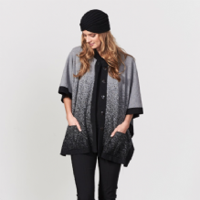 Ombre Cape Black/Light Pewter
